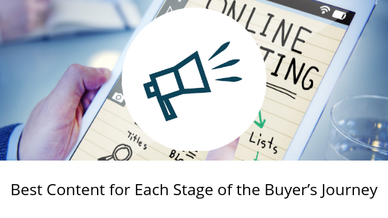 Best Content for Each Stage of the Buyer's Journey